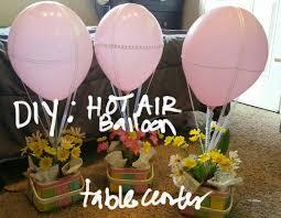 hot air balloon centerpiece diy hot air balloon table center