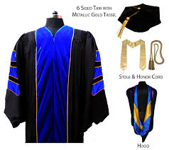 doctoral graduation gown faculty deluxe doctoral gown package