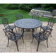 Patio Round Tables Oakland Living Berkley 7 Piece Aged Patio Set With 54
