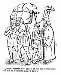 bible joseph brothers free coloring pages art