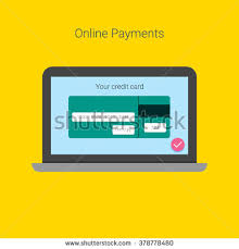 online payment form template vector credit stock vector 378778477