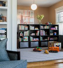 Kids Playroom Design Ideas That Usher In Colorful Joy - Kids play room storage