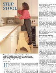 Kitchen Furniture Plans Kitchen Step Stool Plans U2022 Woodarchivist