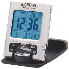travel clock images Marathon travel digital alarm clock cl030023 silver clocks jpg