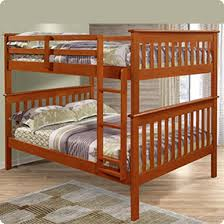 Donco Kids Full Over Full Bunk Bed With Attached Ladder In Light - Donco bunk beds