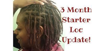 3 month starter loc update budding i fine hair youtube