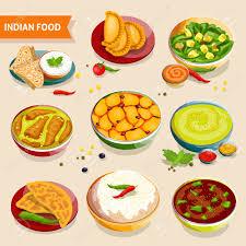 cuisine indienne riz jeu de cuisine indienne de plats nationaux avec des haricots de riz