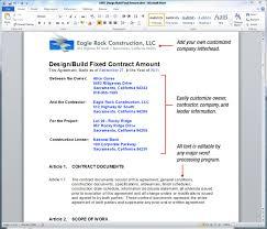 uda constructiondocs design build construction contract templates