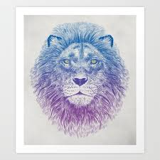 lion print face of a lion art print by thirstyfly society6