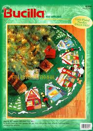 43 bucilla felt tree skirt kit 83980