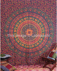 indian camel intricate mandala elephant tapestry throw home decor