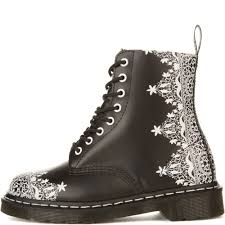 dr martens for women pascal lace black boots black
