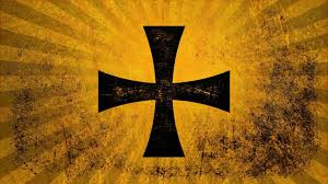 Flag Yellow Sun Cross Christianity Flag Sun Rays Orange Wallpaper And Background