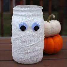 halloween mason jar mummy u2014 weekend craft