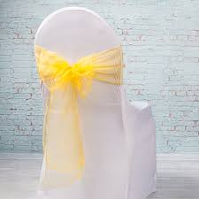 yellow chair sashes organza chair sashes 7 wide pack of 10