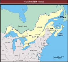 A Map Of Canada by Canadian Census Of Industrial Establishments 1871
