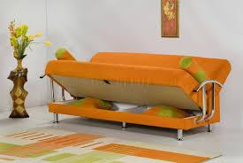 Orange Sofa Living Room by Micrifiber Modern Covertible Sofa Bed W Optional Chair