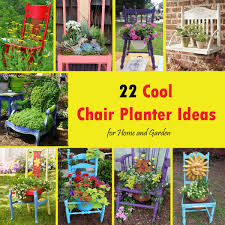 Cool Planters 22 Cool Chair Planter Ideas For Home And Garden Balcony Garden Web