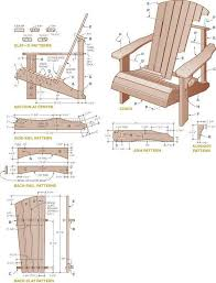 Free Plans For Garden Furniture by 34 Best Adirondack Chair Plans Images On Pinterest Adirondack