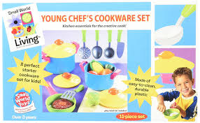 Toy Kitchen Set Food Amazon Com Small World Toys Living Young Chef Cookware 11 Pc