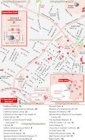 los angeles map downtown guide map of main attractions including