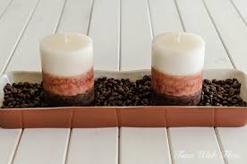 candle centerpiece rustic diy coffee bean candle centerpiece time with thea