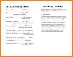 ceremony programs template best award ceremony program template contemporary entry level