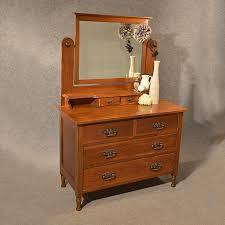 Wood Vanity Table Classic Varnished Teak Wood Dressing Table With Square Mirror Of