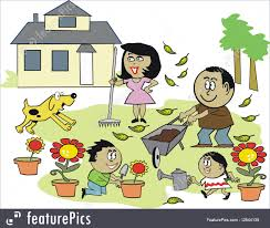 happy family garden family in the garden clipart clipartxtras