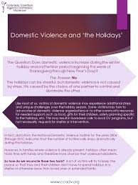 dv and the holidays a new handout from ccadv colorado coalition