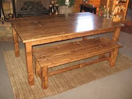 dining table and bench dining room tables pinterest pine