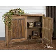 uttermost 24244 altair reclaimed wood console cabinet in natural
