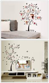 Home Decor Tree 45x60cm Household Composite Photo Wall Stickers Tree Of Happiness
