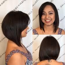 women u0027s textured brunette a line bob with side swept bangs medium