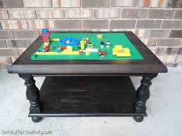 make a lego table from an old end table diy just a little