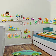 Wall Sticker Warehouse Diy Removable Cartoon Cars Long Road Wall Sticker For Baby Kids Room