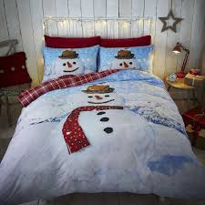 Double Christmas Duvet Catherine Lansfield New Snowman Christmas Duvet Cover Bedding Set