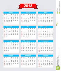 Calendario 2018 Feriados Portugal Comienzo Domingo De La Semana De Calendario 2018 Ilustración