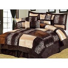 Brown Queen Size Comforter Sets Empire Home Safari 7 Piece Brown Queen Size Comforter Set On Sale