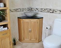 Freestanding Bathroom Furniture Uk by Bathroom Vanity Unit Free Standing Oak Corner Cabinet Black Quartz