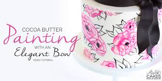 cocoa butter painting elegant bow