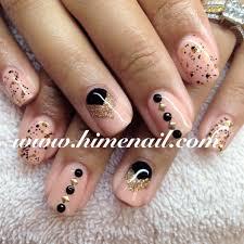 black and beige gel nails japanese nail art www himenail com