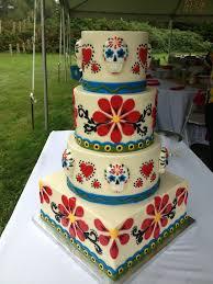 day of the dead wedding day of the dead wedding cake wedding ideas
