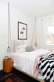 pink white bedroom with black stripes kids room pinterest