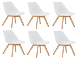chaise blanc et bois chaise chaise blanche et bois élégant chaise lot de 2 chaises