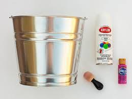 painted easter buckets make a polka dot easter hgtv