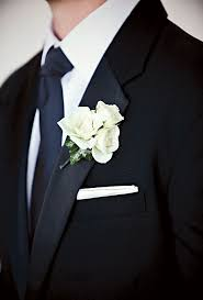 white boutonniere brides classic white boutonniere the groom wore a white