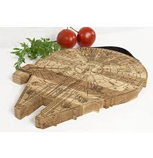 engraved serving platter millennium falcon board wooden cutting board