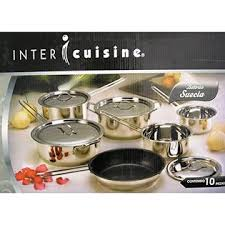 cuisine inter cuisine 10pc stainless steel cookware set with capsule