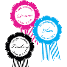 party ribbon graduation award ribbon personalized labels 10 pieces